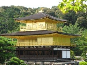 Temple of the Golden Pavilion in Japan