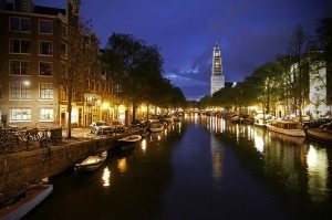 Netherlands Amsterdam at night
