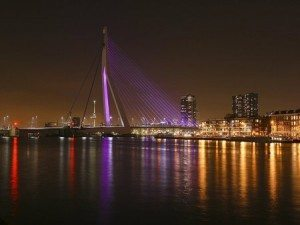 Rotterdam, the Netherlands at night