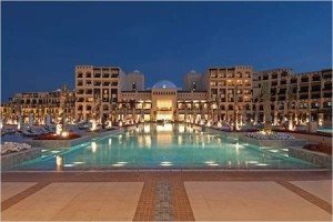 hilton ras al khaimah Hotel at night