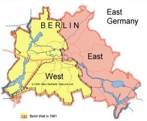 Maps of the German capital Berlin
