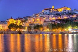 Tourism in Coimbra at night