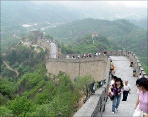 Great Wall of China tourists