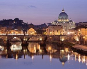 The Vatican night