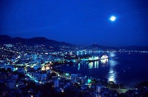 Mexico acapulco night