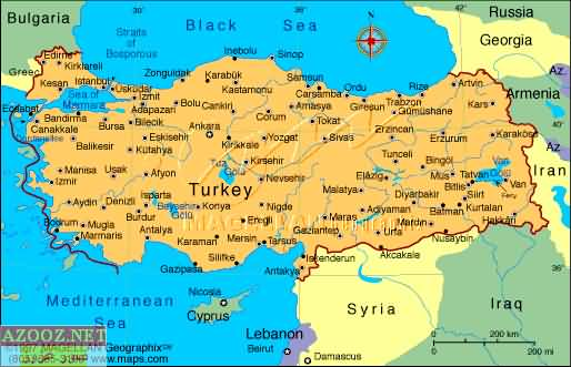 TURKEY maps