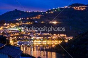 River Douro in Portugal at night