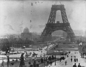 Eiffel Tower - France old photo