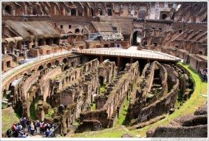 Rome colosseum underground area large