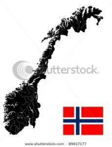 stock vector very detailed map of denmark