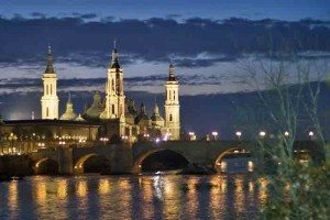 Zaragoza, Spain at night