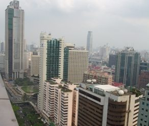 Guangzhou by day, from the 31st floor of the Crowne Plaza City Centre