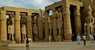 the temples of Karnak in Luxor