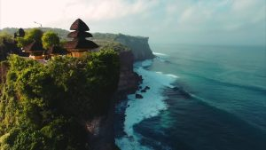 Uluwatu temple and cliffs