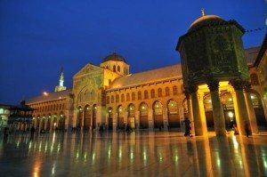 Mosque of the Umayyads in Damascus at night