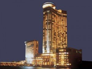 Grand Hyatt Hotel at night