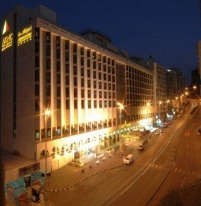 Al Shohada Hotel Makkah at night