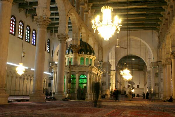 Mosque of the Umayyads in Damascus from the inside