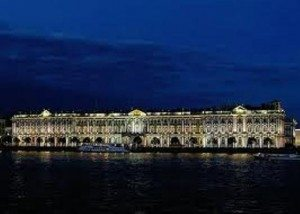 The Hermitage Museum in night