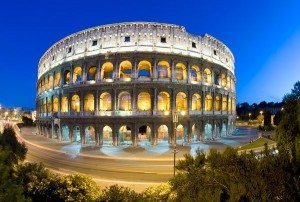 new old 7 wonders colosseum rome